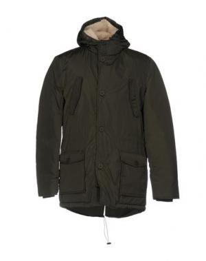 Куртка TWINS. Цвет: зеленый-милитари