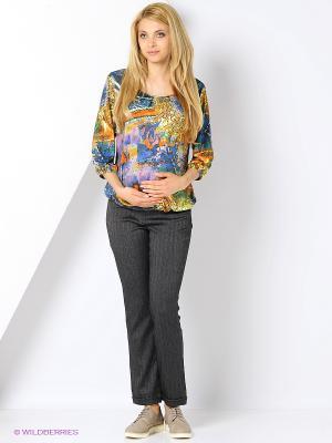 Блузка для беременных FEST. Цвет: желтый, фиолетовый