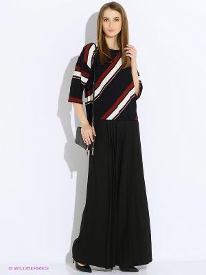 Блузка Motivi. Цвет: черный, темно-бордовый
