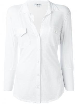 Рубашка с рукавами три четверти James Perse. Цвет: белый