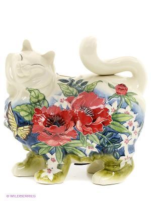 Копилка Кошка (Pavone) Pavone. Цвет: молочный, красный, синий, зеленый