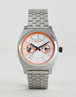 Nixon x Star Wars Наручные часы BB-8 Time Teller Deluxe. Цвет: серебряный