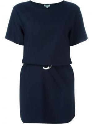 Платье-футболка с поясом Kenzo. Цвет: синий