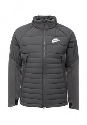 Куртка утепленная Nike. Цвет: серый
