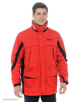 Куртка Stonecast. Цвет: красный, белый, темно-синий