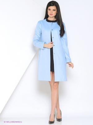 Пальто A.Karina. Цвет: голубой