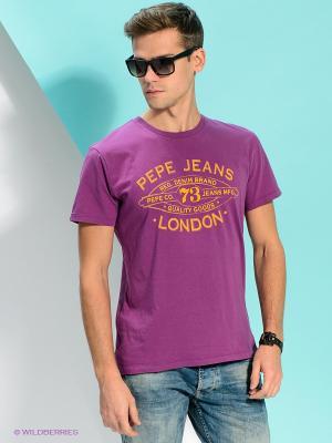 Футболка PEPE JEANS LONDON. Цвет: фиолетовый