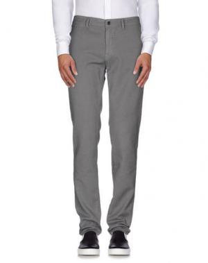 Повседневные брюки SARTORE. Цвет: серый