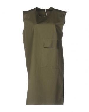 Платье до колена DAMIR DOMA. Цвет: зеленый-милитари