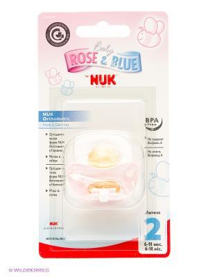 НУК Соска-Пустышка для сна BABY ROSE с кольц. лат. р. 2 NUK. Цвет: светло-коричневый