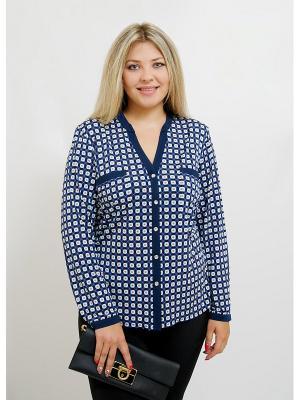 Блуза BALSAKO. Цвет: синий