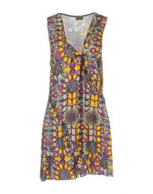 Короткое платье MISS BIKINI. Цвет: охра