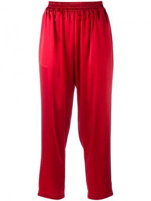 Укороченные брюки Gianluca Capannolo. Цвет: красный