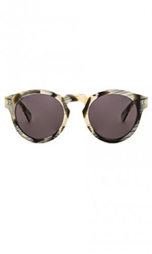 Солнцезащитные очки leonard illesteva. Цвет: кремовый
