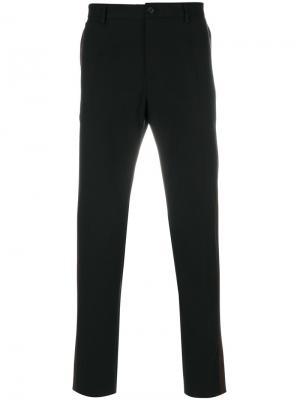 Классические брюки кроя слим Dolce & Gabbana. Цвет: чёрный