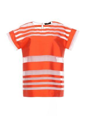 Блузка Piazza Sempione. Цвет: оранжевый