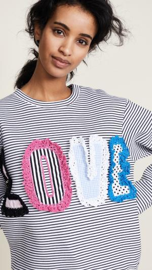 LOVE Striped Sweatshirt Michaela Buerger