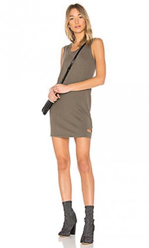 Платье с вырезами Lanston. Цвет: военный стиль
