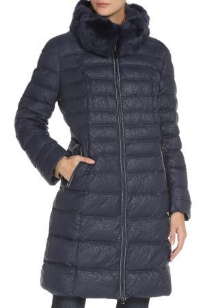 Полуприлегающее пальто на подкладке Vlasta. Цвет: 3131темно-синий
