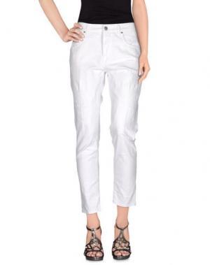 Джинсовые брюки 2W2M. Цвет: белый