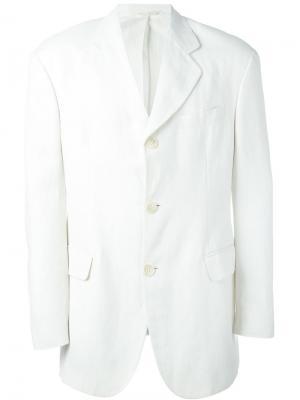 Пиджак с застежкой на три пуговицы Dolce & Gabbana Vintage. Цвет: белый