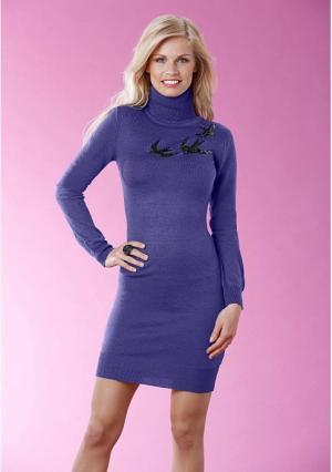 Платье Y.O.U.. Цвет: серый меланжевый