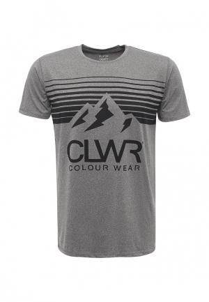 Футболка спортивная CLWR. Цвет: серый
