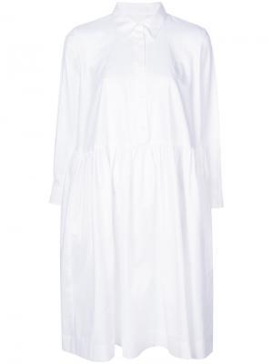 Платье-рубашка свободного кроя Peter Jensen. Цвет: белый