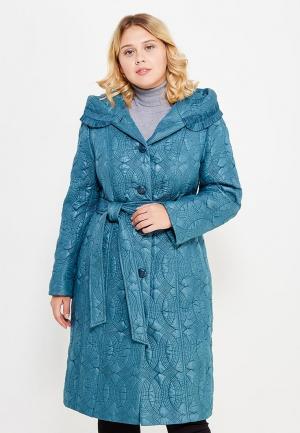 Куртка утепленная Brillare. Цвет: бирюзовый