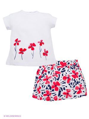 Комплект Bimbalina. Цвет: белый, розовый, темно-синий
