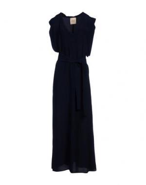 Длинное платье GARAGE NOUVEAU. Цвет: темно-синий