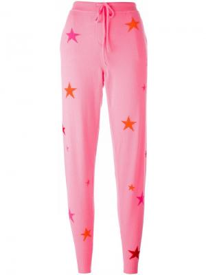 Спортивные брюки с принтом звезд Chinti And Parker. Цвет: розовый и фиолетовый