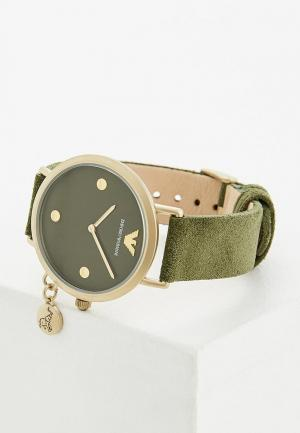 Часы Emporio Armani. Цвет: хаки