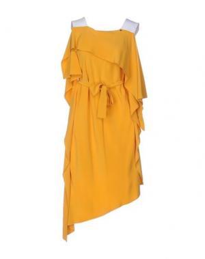 Короткое платье ANNARITA N.. Цвет: охра