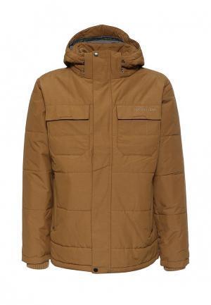 Куртка утепленная Columbia. Цвет: бежевый