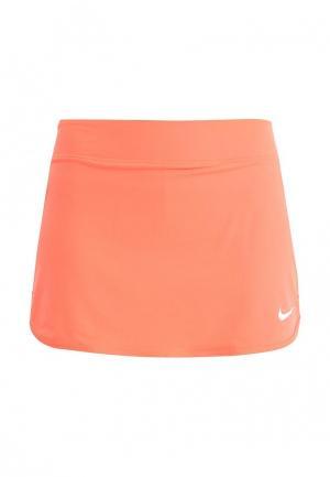 Юбка Nike. Цвет: оранжевый