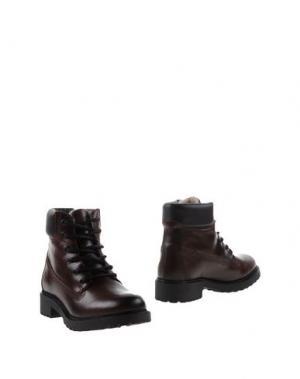 Полусапоги и высокие ботинки BULL BOXER. Цвет: какао
