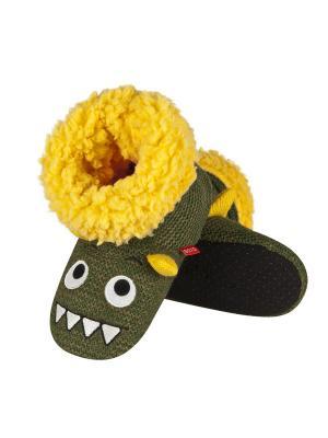 Тапки детские SOXO. Цвет: зеленый, желтый, белый, черный