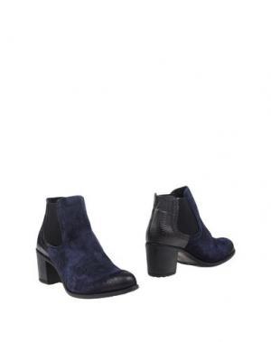 Полусапоги и высокие ботинки MANAS. Цвет: темно-синий
