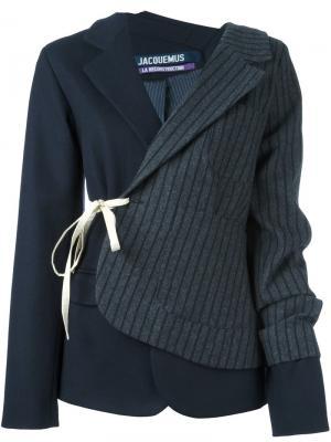 Лоскутный пиджак Jacquemus. Цвет: синий