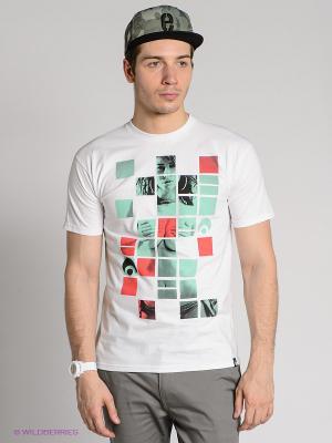 Футболка Osiris. Цвет: белый, черный, светло-зеленый, коралловый