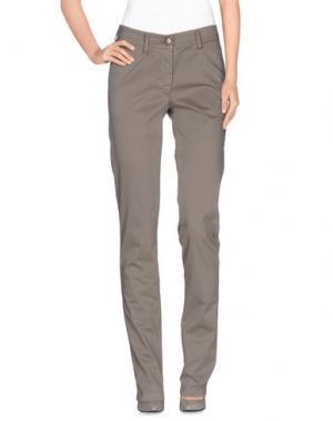 Повседневные брюки VERYSIMPLE. Цвет: голубиный серый
