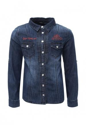 Рубашка джинсовая Guess. Цвет: синий