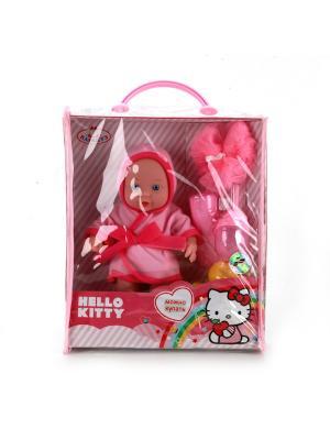 Пупс Карапуз Hello Kitty 20см, твердое тело, с аксессуары для купания в сумке. Цвет: розовый