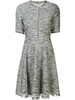 Платье мини с бахромой Rebecca Taylor. Цвет: чёрный