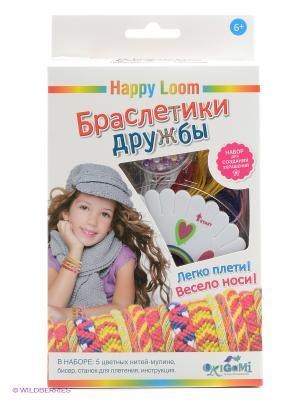 Happy Loom. Браслетики дружбы. Loom. Цвет: желтый, красный, синий