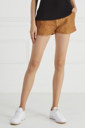 Кожаные шорты 7 For All Mankind. Цвет: коричневый