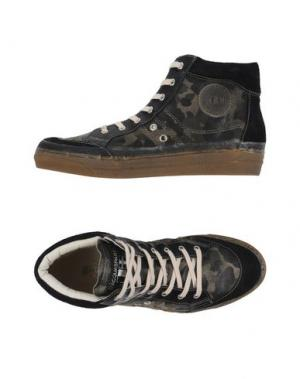Высокие кеды и кроссовки D'ACQUASPARTA. Цвет: зеленый-милитари