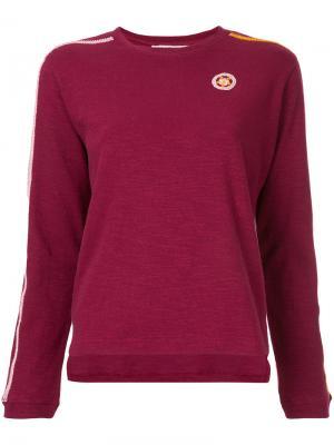Striped sleeve sweatshirt Jupe By Jackie. Цвет: розовый и фиолетовый