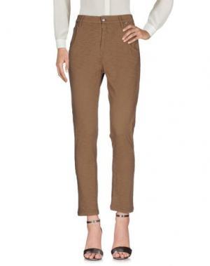 Повседневные брюки RA-RE. Цвет: зеленый-милитари
